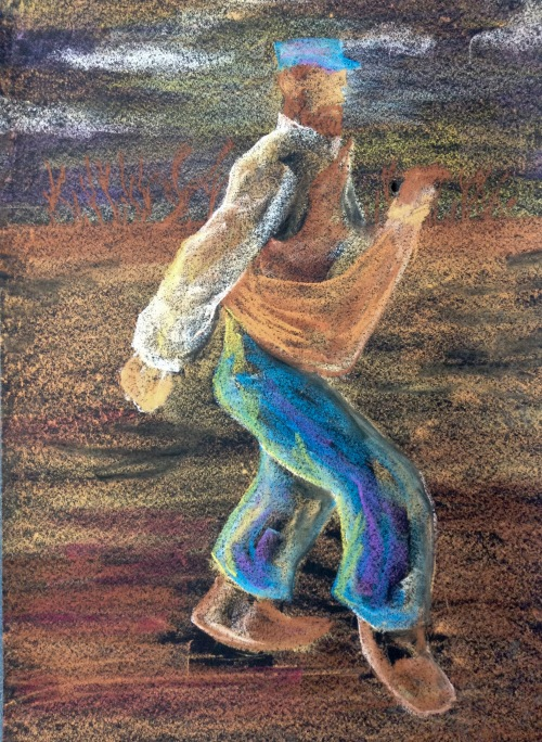 Interpretation of 'The sower' by Van Gogh